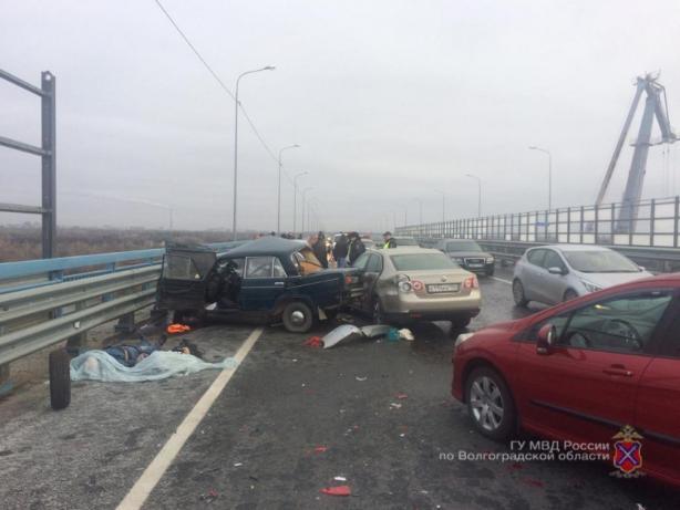 Два человека погибли в лобовом ДТП на новом мосту