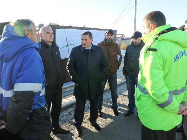 Губернатор проверил ход строительства моста через Ахтубу