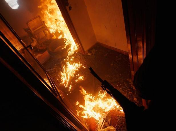 За прошедшие сутки в Волжском произошло три пожара