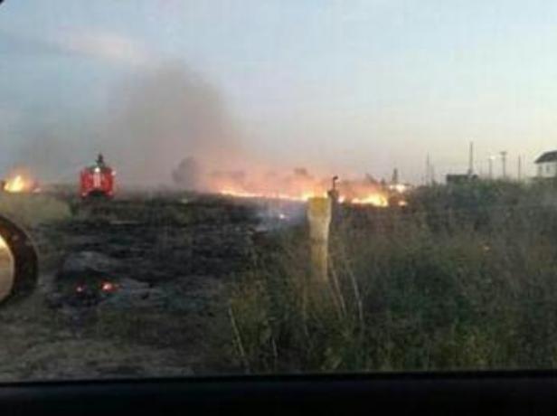 Волжанин снял на видео пожар возле Киляковки