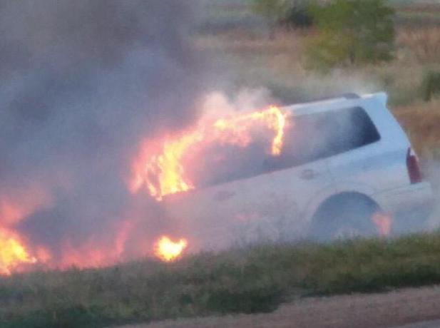 Ужасная авария: от удара иномарку охватило огнем