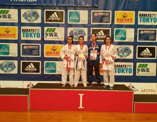 Волжанка взяла первое место по олимпийскому каратэ