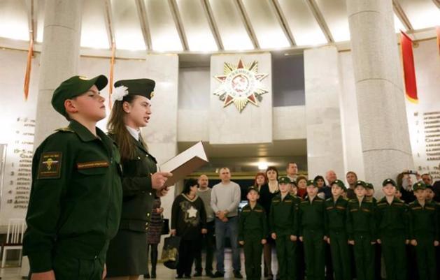 Школьники изВолжского пополнили ряды юнармейцев