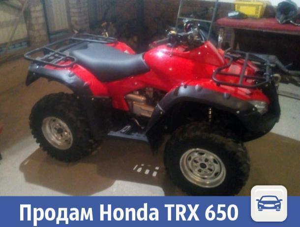 В Волжском продается мощный квадроцикл Honda TRX 650