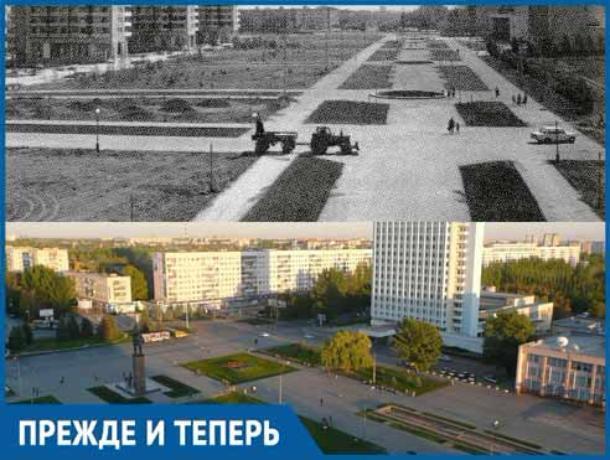 37 лет назад была закончена стройка на центральной площади Волжского