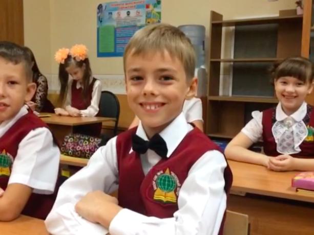 На милейшее видео попали первоклассники Волжского, рассказав о главной перемене в своей жизни