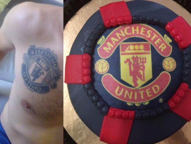 Фанат Manchester United окружил себя эмблемами ФК в Волжском