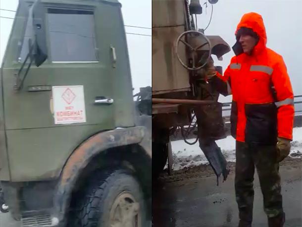 Дорожные службы без заморочек: покрытие через Волжскую ГЭС снова латали в сырость