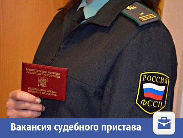 В Волжском появилась вакансия судебного пристава