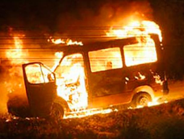 Огненная стихия уничтожила «ГАЗель» в Волжском