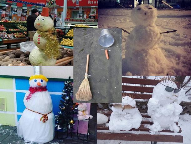 Топ-5 запоминающихся снеговиков декабря собрали в Волжском