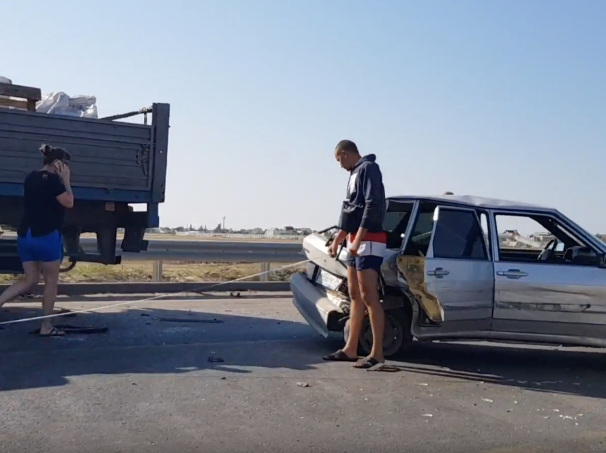 «Четырка» в хлам: на мосту в Волжском произошло ДТП